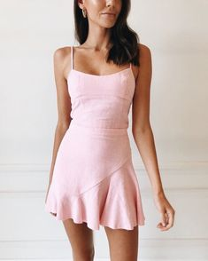 stylish summer outfits to wear now page 80 Dressy Dresses, Cute Dresses, Summer Dresses, Pink Dress Casual, Dresses Near Me, Dresses For Work, Ensembles Outfit, Estilo Rachel Green, Stylish Summer Outfits