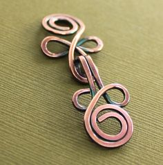 Handmade Celtic knot copper cardigan clasp or by IngoDesign, $9.00