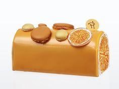 Bûche de Noel : pour Noel 2014,Bûche Infiniment Mandarine par Pierre Hermé Composition : pâte sablée à la mandarine, crème Chantilly à la mandarine, biscuit imbibé au jus de mandarine, gelée de mandarine, compote de mandarine, crème à la mandarine.