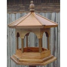 #Gazebo Platform #bird Feeder.  Wow! It's handmade