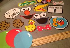 18 apoyos de pc Sesame Street photo booth por InspiredbyLilyMarie