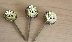 Spring Flowers Vintage Inspired Bobby Pins  by SophiesHats on Etsy, $15.00