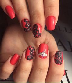 28 Best Red And Black Nails Images On Pinterest