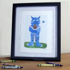 Monster Hug Illustration Print by Madi - £12.00