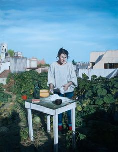 Paintings by Argentinian artist Elias Santis.