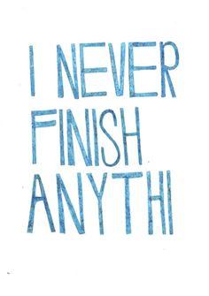 Yo nunca termino na...