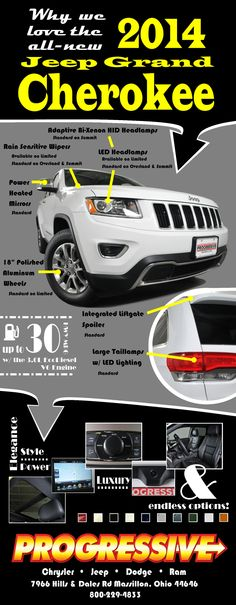 Infographic - Why we love the all new 2014 Jeep Grand Cherokee  www.progressivejeep.com