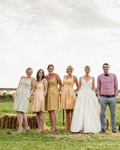 mix matching bridesmaids
