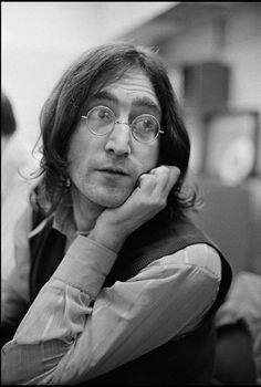 John Lennon, Abbey Road Studios, London, 1968.