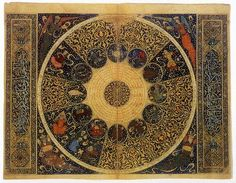 'The heavens as they were on April 25, 1384' by the Persian polymath Mahmud ibn Yahya ibn al-Hasan al-Kashi (completed between 1410 - 11)