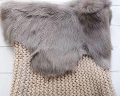 Gushlow & Cole hand knit snood with Toscana shearling trim - via Cul de Paris
