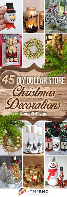45 Best DIY Dollar Store Christmas Decor Craft Ideas for 2017 - Dollar tree christmas diy Dollar Tree Christmas, Dollar Tree Crafts, Diy Christmas Gifts, Decor Crafts, Holiday Crafts, Christmas Ornaments, Christmas Ideas, Xmas Trees, Diy Crafts