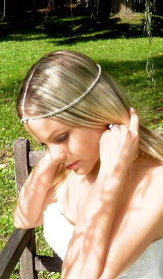 Chain Headpiece Forehead drape band Bohemian by Tatishotties, $45.00