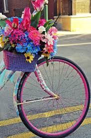 bicycle with flowers - Hledat Googlem