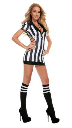 b6f8a8d02 Starline Cut-Out Referee Costume Women s Costume - Nastassy Sexy Adult  Costumes