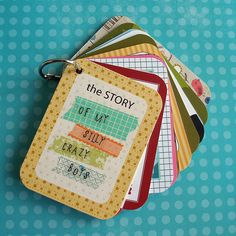 Make a mini album featuring your favorite journaling cards!