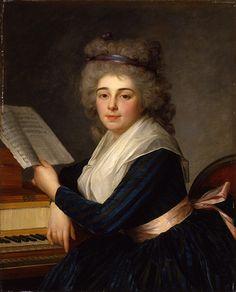 Antoine Vestier (1740-1824). Rose Renaut, singer, 1791