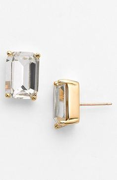 Free shipping and returns on kate spade new york stone stud earrings at Nordstrom.com. Bright stones are emerald-cut and prong-set for a classic look. Precious metal plates these earrings that are small enough to go with all sorts of outfits.
