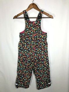 657c8fd53d8 Hanna Andersson Outdoors Girls Floral Snow Overalls NWOT Size 100 (Size 4)   fashion