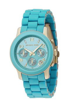 Michael Kors 'Turquoise Catwalk' Chronograph Watch