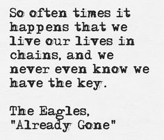 The Eagles tell the truth.