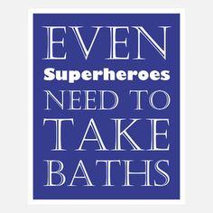 Superhero Bath now featured on Fab.