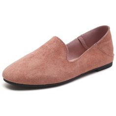 Suede Flat Loafers (7.26 GTQ) ❤ liked on Polyvore featuring shoes, loafers, suede flat shoes, flat loafer shoes, flat shoes, loafers moccasins and loafer shoes