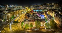 stuttgart city by night wide angel version by Wolfgang Simm on 500px