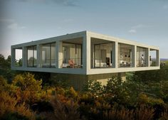 Raised 'Soho House'  Catalonia countryside  Spain  Designed by  Pezo Von Ellrichshausen Architects (chile)