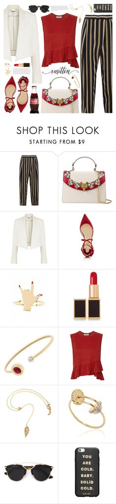 """""""smitten"""" by valentino-lover on Polyvore featuring Chloé, Gucci, Christian Louboutin, Tom Ford, Michael Kors, A.L.C., Delfina Delettrez, Christian Dior and ban.do"""