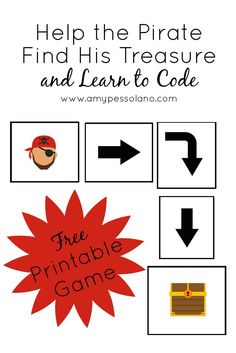 A Free Printable Game to making learning code for preschoolers fun, even without a computer and practice basic programming skills.