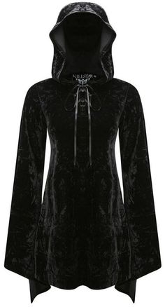 hooded *witch* dress in black velvet <3