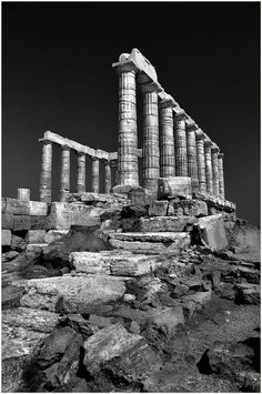 A poem written with marble stones ( Cape Sounion Poseidon temple)