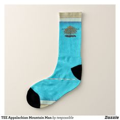 TEE Appalachian Mountain Man Socks - Fancy Customizable All-Over-Print Crew Socks By Talented Fashion And Graphic Designers - #socks #stockigns #mensfashion #apparel #shopping #bargain #sale #outfit #stylish #cool #graphicdesign #trendy #fashion #design #fashiondesign #designer #fashiondesigner #style