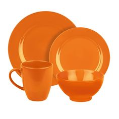 Waechtersbach Fun Factory Orange 4-piece Place Setting - Overstock™ Shopping - Big Discounts on Waechtersbach Place Settings