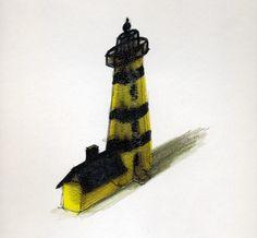 mein gelber uhu-leuchtturm summt wie eine biene #uhu Lighthouse, Bees, Light Fixtures