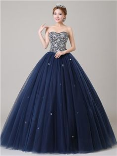 Ericdress Sweetheart Sequins Beaded Ball Gown Quinceanera Dress