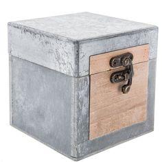 Faux Concrete Box