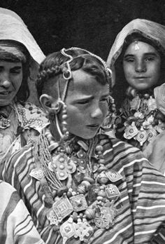 """Africa   """"Jewish Ksar Es Souk. Adornment Day.""""   Image taken from the publication """"Central Morocco"""" by J Robichez. 1946 ~ page 66/67"""