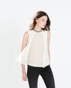 Imagem 4 de TOP COMBINADO da Zara