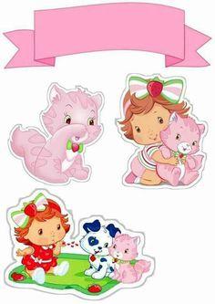 Kit festa moranguinho Strawberry Baby, Strawberry Shortcake, Minnie Baby, Birthday Frames, Paw Patrol Birthday, Kids Party Themes, Scrapbook Albums, Cupcake Toppers, Hello Kitty