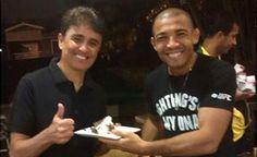 José Aldo tem festa surpresa de aniversário, com presença de Bebeto