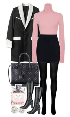 """Untitled #772"" by foreverdreamt ❤ liked on Polyvore featuring Yves Saint Laurent, SPANX, Christian Dior and A.L.C."