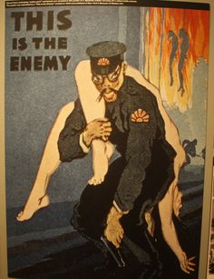 "US anti-Japanese poster: ""This is the Enemy"""