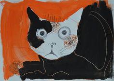 "Saatchi Art Artist MISHA DONTSOV; Painting, ""Cat "" #art"