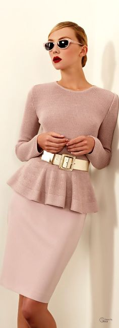St. John ● 2013 coral sweater women fashion outfit clothing style apparel closet ideas