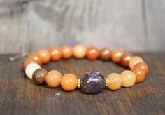 Clearing Out the Old and Bringing in the New Root Chakra Gemstone Bracelet  - Reiki, meditation bracelet, Yoga Jewelry, spiritual jewelry on Etsy, $34.00