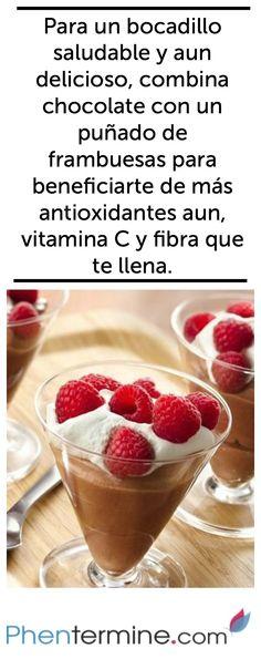 El chocolate con un alto contenido de cacao contiene menos azúcar y más antioxidantes para mantenerte saludable! #weightloss #health #fit #fitness #healthy #recipe #breakfast #motivation #phentermine #strong #workout #diet