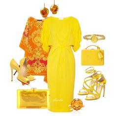 """""""yellow"""" by gaitriesharda on Polyvore"""