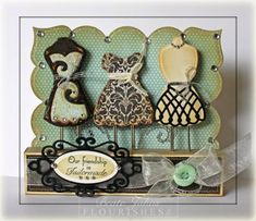 Dress Form Bookmark Paper Clips by Beate - Cards and Paper Crafts at Splitcoaststampers TUTE